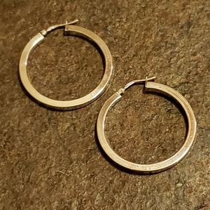 925 Sterling Silver Square Tube Hoop Earrings